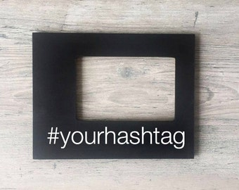 Custom Wedding Hashtag, Custom Hashtag Sign, Bachelorette Party Gift, Custom Hashtag Picture Frame, Personalized Gift for Teen, Birthday