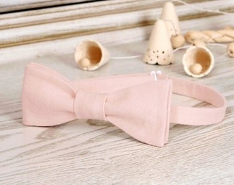 Bow Tie Pearl Blush   Bow Tie Cream Blush  SELF TIE  Classic Bow Tie Cream Blush 2017 color Wedding Bow Tie