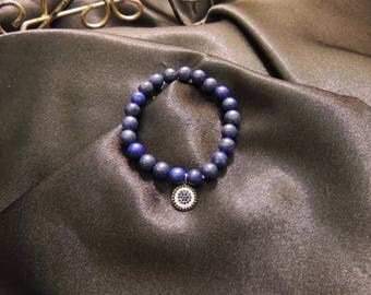 Natural Blue Lapis Bead bracelet