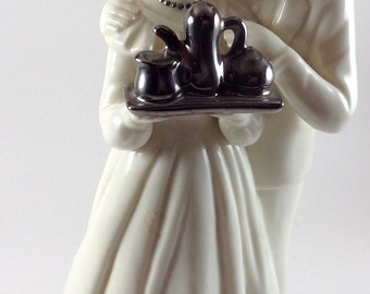 Silver Anniversary Music Box by Enesco/Schmid Movement/plays Anniversary Waltz/Bride Groom/