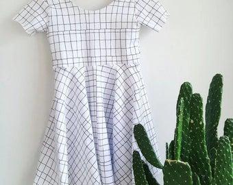 Posy Twirl Circle Dress - Knit, Girl, Dress, Ballerina Dress, Baby Dress
