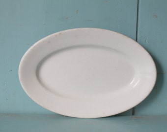 Burslem-English 1910 Deans LTD Ironstone Platter (small) Royal Semi China Vitrified