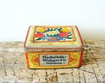 A Vintage Haeberlein-Metzger Liebkuchen Tin.