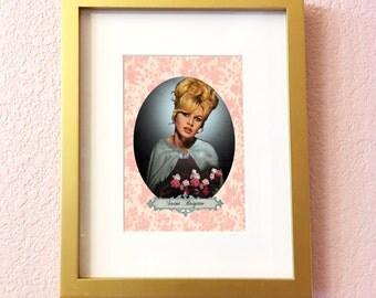Saint Brigitte Bardot Print // 5x7 Original Collage Art