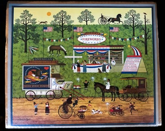 Vintage Charles Wysocki Bang, Boom, Bam & Pow Calendar Page Print