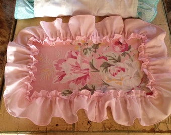set of 4 ruffled placemats