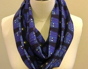 Doctor Who Tardis Jersey Knit Infinity Scarf
