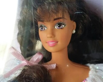 GORGEOUS! Vintage 1996 Birthday Hispanic Latina Brunette Quinceanera Like Barbie Collectible Doll by Mattel~Never Removed From Box