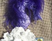 seahorse, mobile, decorative pillow, purple, polka dots, beach, nautical decor, soft sculpture, ostrich feathers