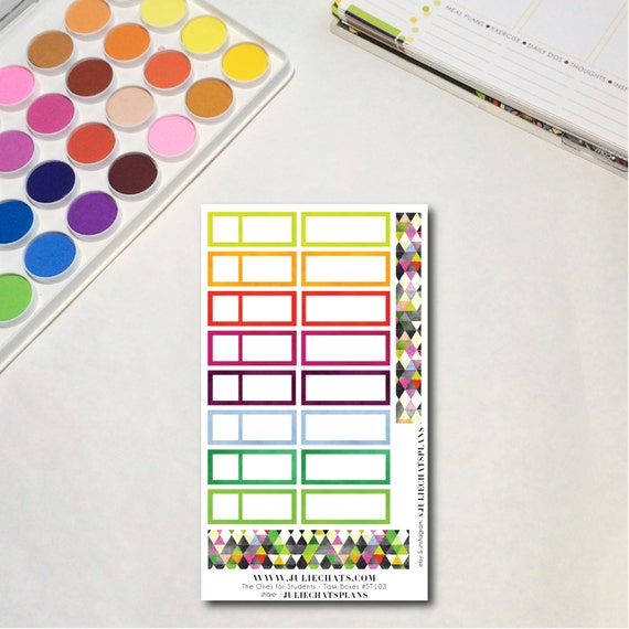 Student High School Planner Sticker Sheet, The Ones for Students - Task Boxes, Erin Condren, Happy Planner, Traveler's Notebook