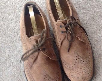 Vintage Suede Men's Brogue Shoes