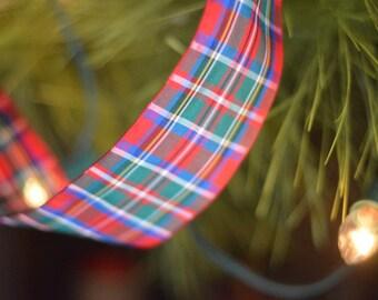 edinburgh royal stewart wide plaid ribbon
