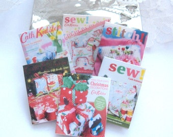 dollhouse sewing magazines x 6  miniature 12th scale  display
