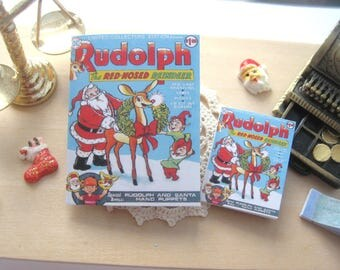 dollhouse comic christmas rudolph vintage inspired 12th scale or playscale lakeland artist