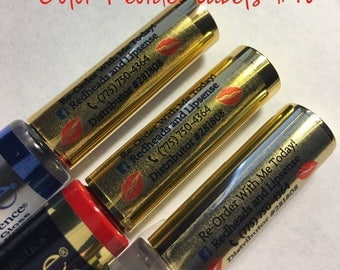 Custom COLOR Clear Laser Labels for Lipsense REORDER 1 Sheet 100 Labels Lip Sense