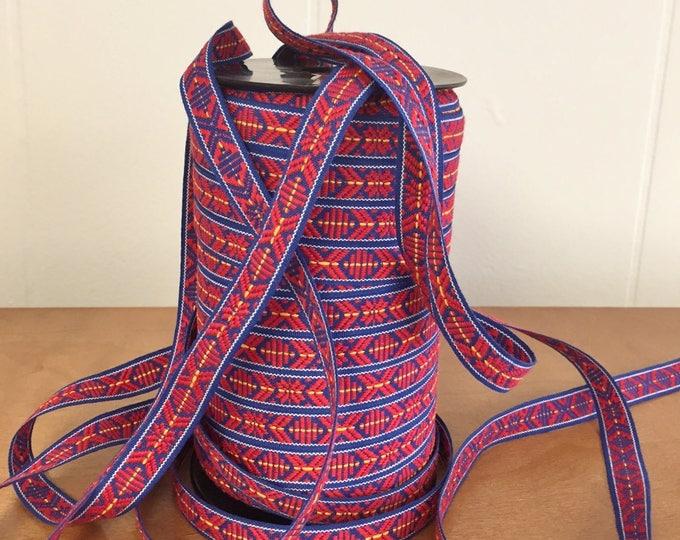 Scandinavian Ribbon Trim Folk Art Hand Woven