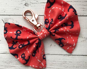 Fabric Planner Bow Charm - Travelers Notebook Charm - TN bow
