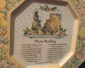 Vintage avon, collectible plate, Avon tray, plum pudding, Avon England