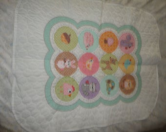 "Cute Lil Critters 32"" X 40"" Cross stitch Quilt"