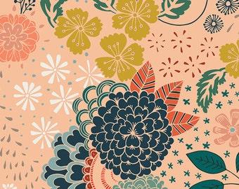 Baby Boppy Cover - Tangerine - Boppy Cover - Floral