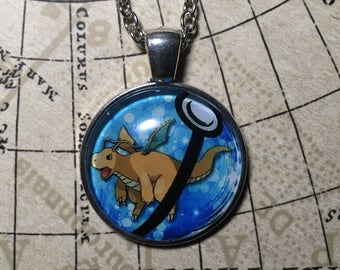 Dragonite Pokemon Necklace