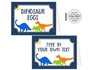 Dinosaur Tent Cards, Buffet labels, Buffet Signs, Food Tent Cards, Food Labels, Food Tents, Candy Buffet Signs, Candy Buffet Labels   416
