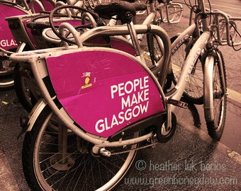People Make Glasgow Bicycles - Wall Decor - Fine Art Photography Print, Scottish, Glasgow Pride, Contemporary, Scotland, Glaswegian