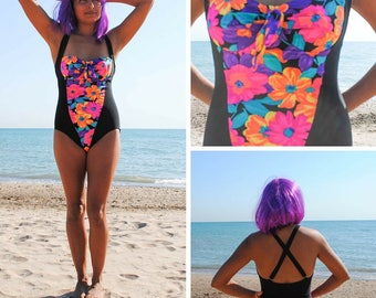 1980's Rad Floral Swimsuit