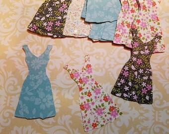 Die cut Dresses...  Scrapbooking, cardmaking.      #D-23