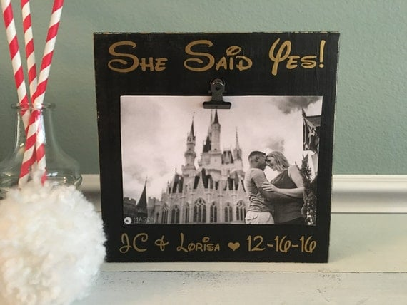 Disney Engagement Picture Frame She Said Yes Disney