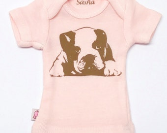 Sasha Doll & MSD sized T-Shirt - Light pink puppy dog