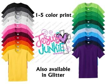Custom Youth Jesus Junkie Shirt