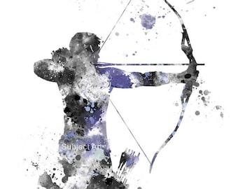 Hawkeye ART PRINT illustration, Superhero, Marvel, Avengers, Home Decor, Wall Art,