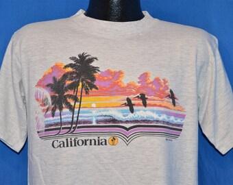 80s California Beach Sunset t-shirt Large