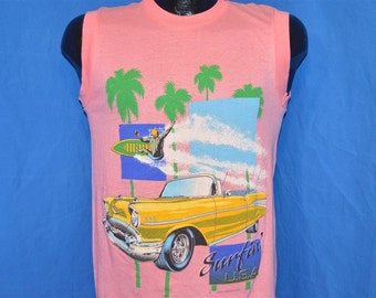 80s Surfing USA '57 Chevy Bel Air t-shirt Small