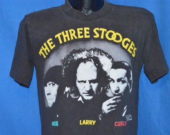 80s Three Stooges Larry Curly Moe t-shirt Medium