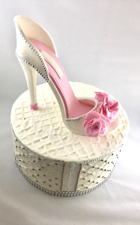 Fondant High Heel Shoe Cake topper Gumpaste shoe topper