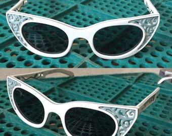 50s shape butterfly sunglasses vtg polaroid
