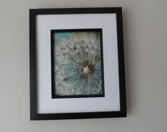 Needle Felted Picture - Dandelion