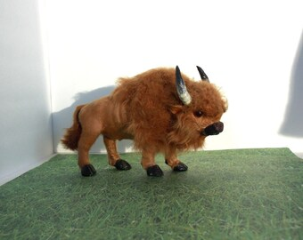 Vintage Buffalo Furry Figurine