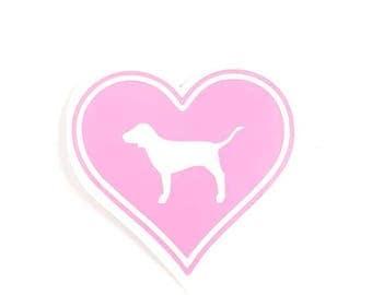 Pink Dog Vinyl Decal