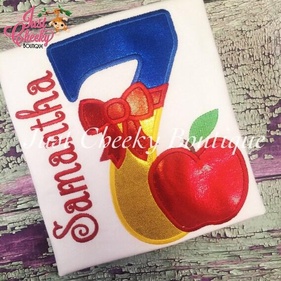 Snow White Embroidered Birthday Shirt - Disney Princess Birthday- 1st Disney Trip - Disney Vacation - Snow White Birthday - Seven Dwarfs
