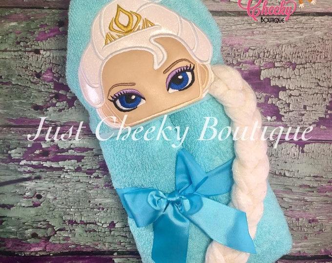 3D Ice Queen Inspired Hooded Towel - Elsa - Frozen  - Disney Birthday - Disney Princess