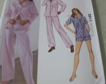 Kwik Sew 2811 Misses XS to XL pajamas