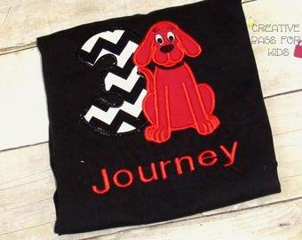 Clifford the Big Red Dog T-shirt/ Clifford T-shirt/ Clifford outfit/ Clifford clothing