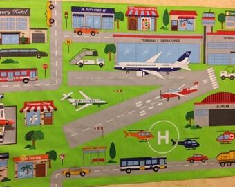 Airport Travel Roll Up Play Mat, Airport Fold Up Play Mat