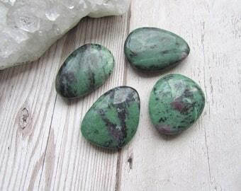 Ruby Zoisite Smoothie Stone Polished Palm Stone Pebble Gemstone Worry Stone