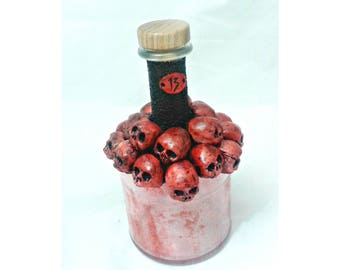 Red Skulls Bottle, Ossuary Decanter