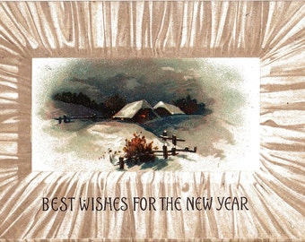 1909 New Year Wishes Post Card