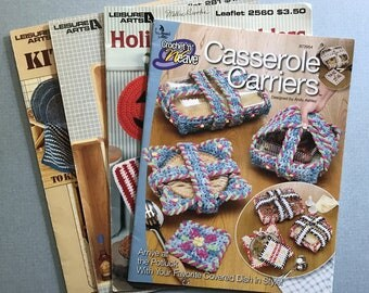Lot of 4 Potholder & Kitchen Crochet Pattern Books
